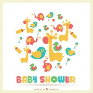 Baby Shower Template Free Vector