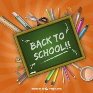 Back to School Blackboard Free Vector
