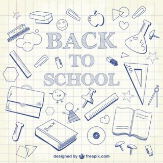 Back to School Doodles Background Free Vector