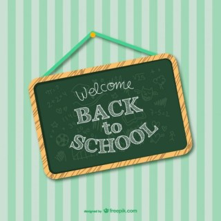 Back to School Greenboard Design Free Vector