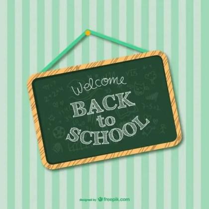 Back to School Greenboard Design Free Vector