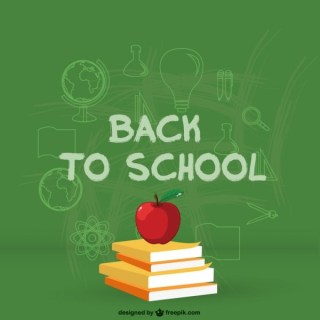 Back to School Illustration Free Vector