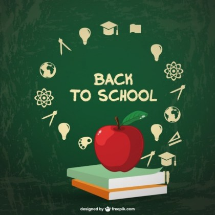 Back to School Infographic Free Vector