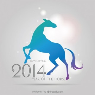 Background 2014 Chinese Zodiac Sign Free Vector
