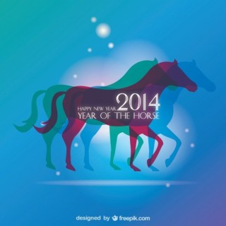 Background Design Horse Year Concept Free Vector