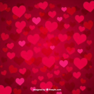 Background of Passion Hearts Free Vector