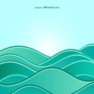 Background with Abstract Sea Waves Free Vector