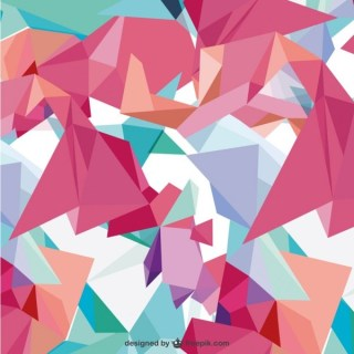 Background with Abstract Shapes Free Vector