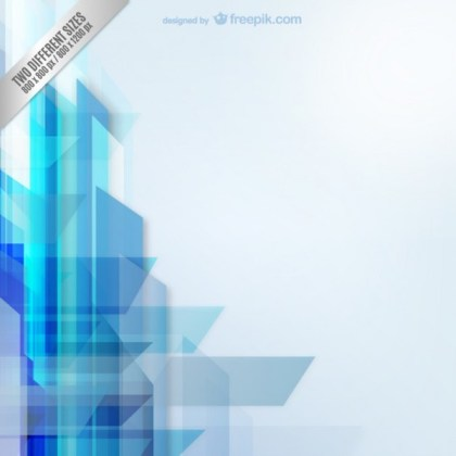 Background with Blue Shapes Free Vector