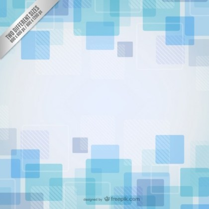 Background with Blue Squares Free Vector
