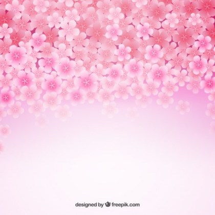 Background with Cherry Blossoms Free Vector