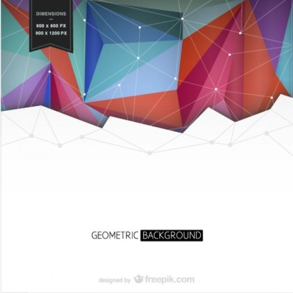 Background with Colorful Geometrical Shapes Free Vector