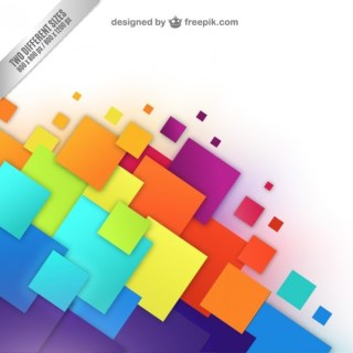 Background with Colorful Squares Free Vector