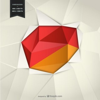 Background with Geometrical Red Shapes Free Vector