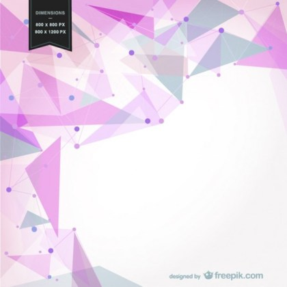 Background with Pink Geometrical Shapes Free Vector