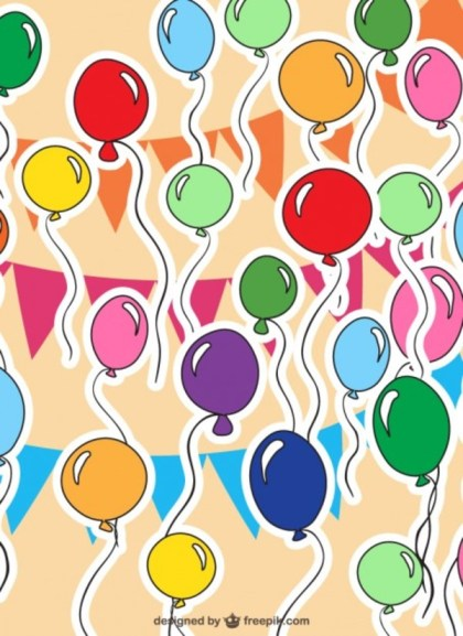Balloons Pattern Free Vector
