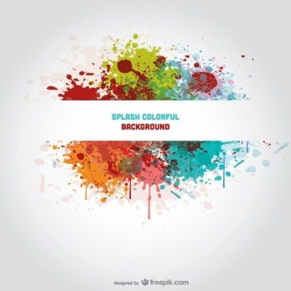 Banner Splash Background Free Vector