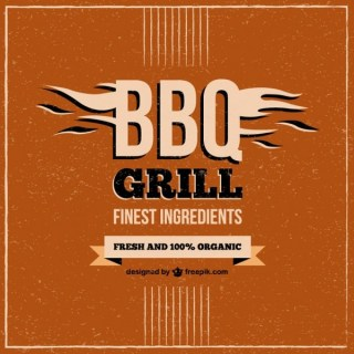 Barbecue Grill Restaurant Menu Free Vector