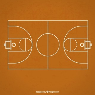 Basketball Court Free Vector
