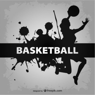 Basketball Players Template Free Vector