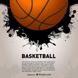 Basketball Splash Backgroud Free Vector