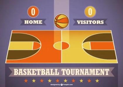 Basketball Tournament Template Free Vector