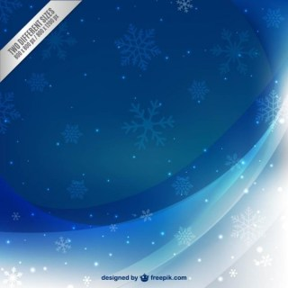 Beautiful Winter Background with Snowflakes Free Vector