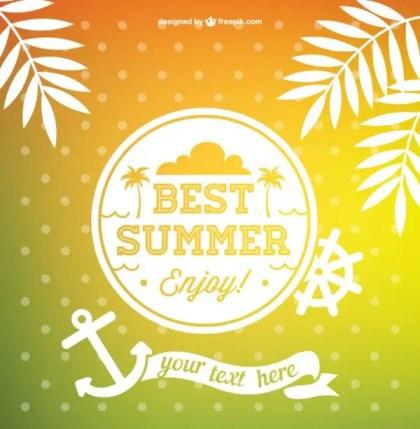 Best Summer Free Vector