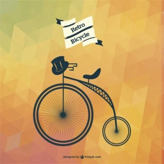 Bicycle Art Geometric Template Free Vector