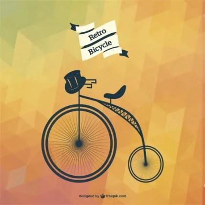 Bicycle Art Geometric Template Free Vector