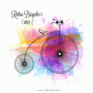 Bicycle Retro Design Free Vector