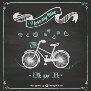 Bike Ride Chalkboard Design Free Vector