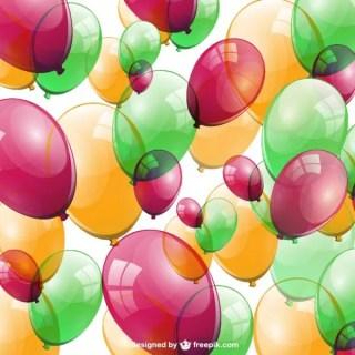 Birthday Ballloos Free Free Vector