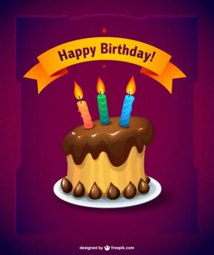 Birthday Chocolate Cake Free Vector