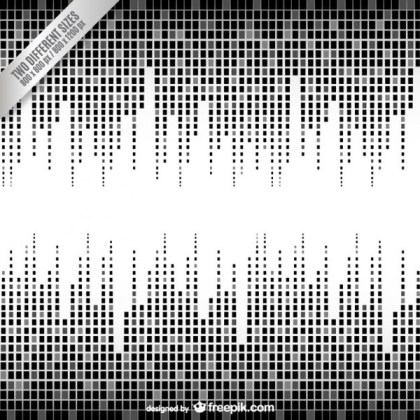 Black and White Equalizer Background Free Vector