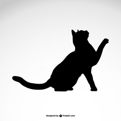 Black Cat Silhouette Free Free Vector