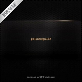 Black Glass Background Free Vector