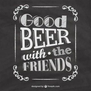 Blackboard Beer Menu Free Vector