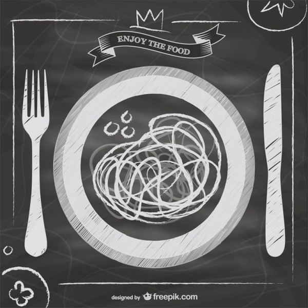 Blackboard Italian Food Menu Free Vector