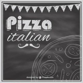 Blackboard Pizza Menu Template Free Vector
