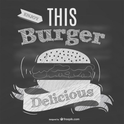 Blackboard Restaurant Fast Food Menu Free Vector