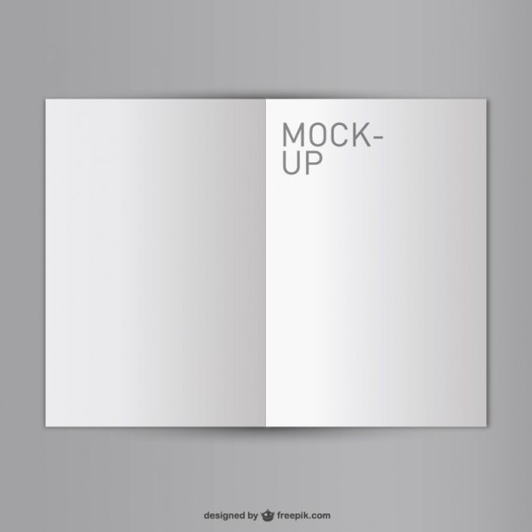 Blank Opened Book Mock-Up Free Free Vector