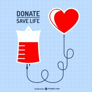 Blood Donation Art Free Vector