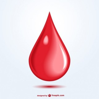 Blood Drop Art Free Vector