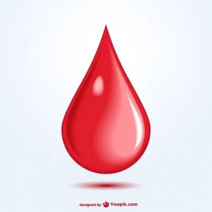 Blood Drop Art Free Vector