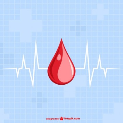 Blood Drop Template Free Vector