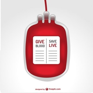 Blood Transfusion Bag Illustration Free Vector