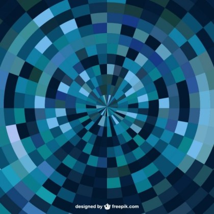 Blue Abstract Geometrical Background Free Vector