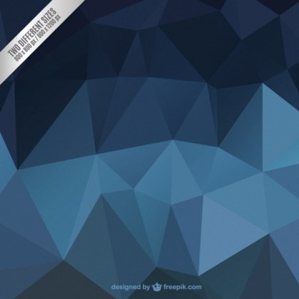 Blue Abstract Polygonal Background Free Vector