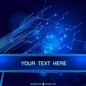 Blue Abstract Technology Background Free Vector